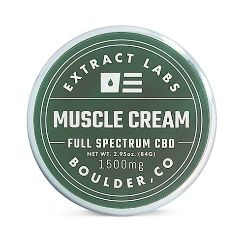 Extract Labs CBD - Topical CBD Cream for Muscles 1,500mg Full Spectrum